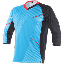 반팔상의 FLOW TECH JERSEY 3/4 KALE/CYAN